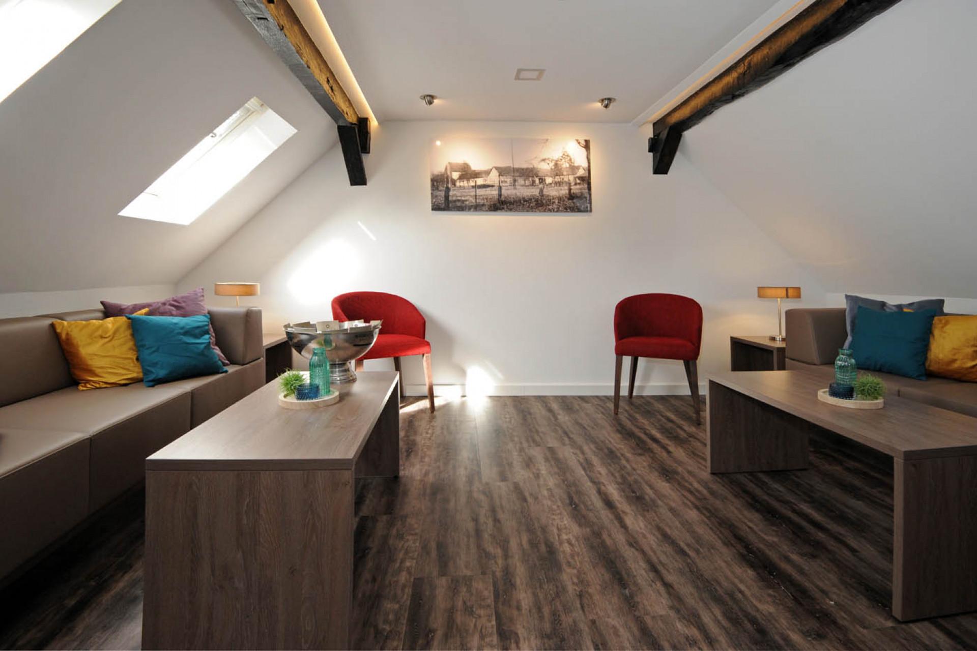 Perfekt für Coachings: Unsere kleine Lounge im Speicherhaus
